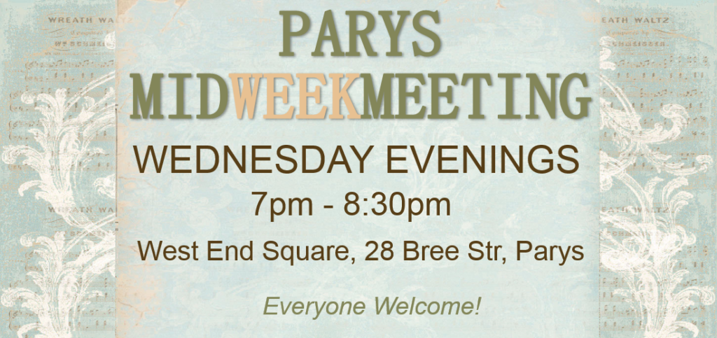 Mid Week Meeting – Parys @ Georette Building | Parys | Free State | South Africa