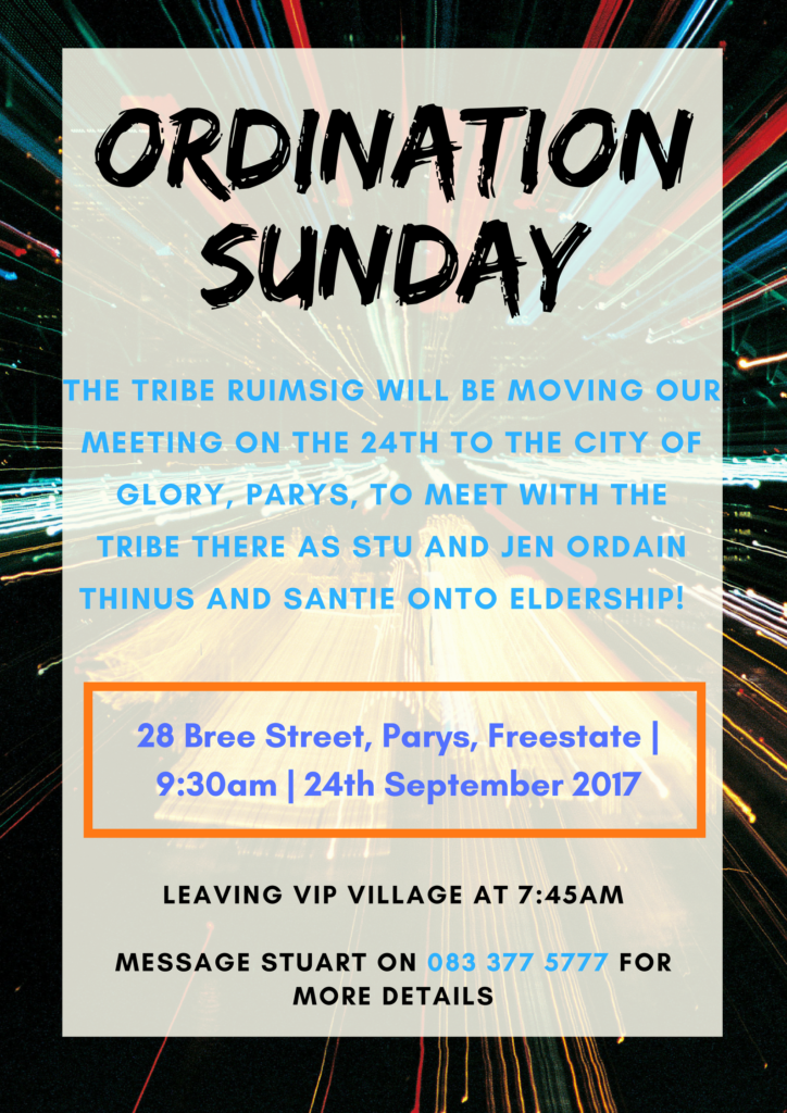 Ordination Sunday @ Georette Building- Tribe Parys venue